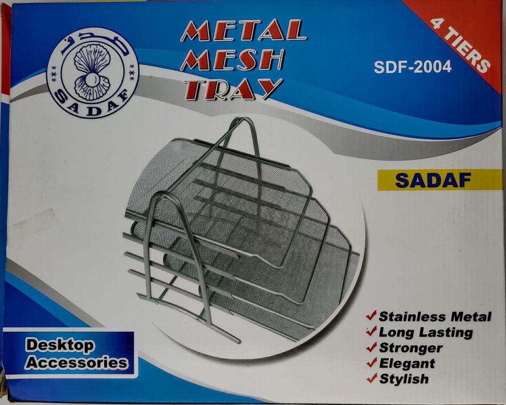 Sadaf Metal Mesh Tray-Stainless Metal- Desktop Accessories